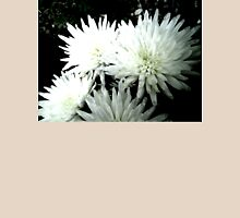 Snow Flower black and white chrysanthemum photography art T-Shirt