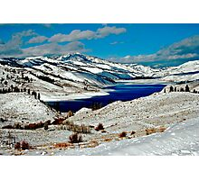 ANDERSON RESERVOIR AFTER FIRST SNOW Photographic Print