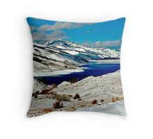 ANDERSON RESERVOIR AFTER FIRST SNOW Throw Pillow