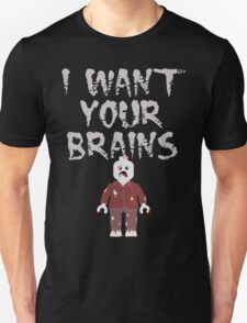 I WANT YOUR BRAINS ZOMBIE MINIFIG Unisex T-Shirt