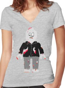 Zombie Minifig Women's Fitted V-Neck T-Shirt