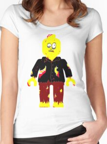 Zombie Minifig Women's Fitted Scoop T-Shirt