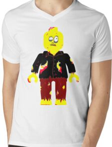 Zombie Minifig Mens V-Neck T-Shirt