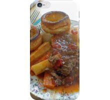 A Yorkshire Pudding Dinner iPhone Case/Skin