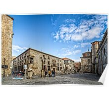 Cathedral Square in Avila Poster