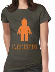 Minifig [Orange], Customize My Minifig Womens Fitted T-Shirt