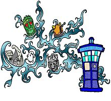 Tardis Bad Guys by Skree