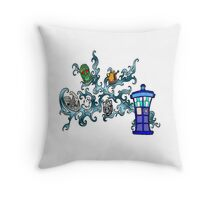 Tardis Bad Guys Throw Pillow