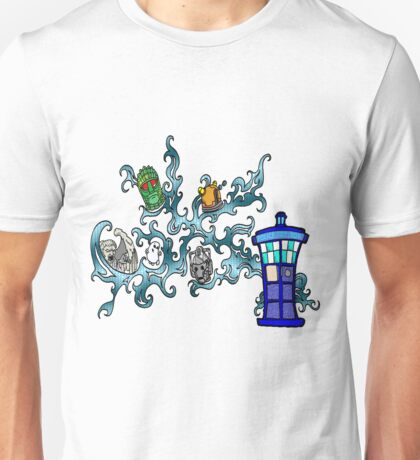 Tardis Bad Guys Unisex T-Shirt