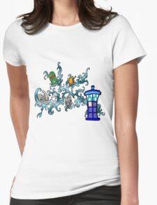 Tardis Bad Guys Womens Fitted T-Shirt
