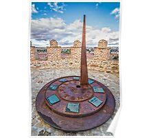 Solar Clock at The Walls of Avila Poster
