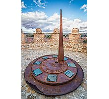 Solar Clock at The Walls of Avila Photographic Print