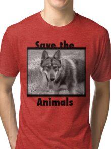save the animals Tri-blend T-Shirt