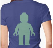Minifig [Large Sand Green] Womens Fitted T-Shirt