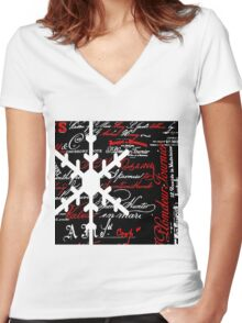 The Snowflake Women's Fitted V-Neck T-Shirt