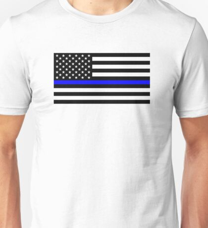 Police: Black Flag & The Thin Blue Line Unisex T-Shirt