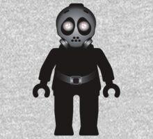 Zombie Apocalypse Hazmat Gas Mask Minifig Kids Clothes