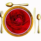 PLACE SETTING ROSE by Thomas Barker-Detwiler