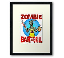 Zombie Bar & Grill Framed Print