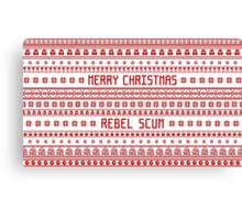 Merry Christmas Rebel Scum Canvas Print