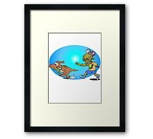 Zombie Chase Framed Print