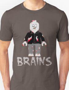 BRAINS ZOMBIE MINIFIG Unisex T-Shirt