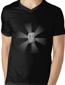 Glitch Overlay pet rock rays Mens V-Neck T-Shirt