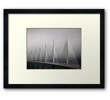 The Millau Viaduct in France Framed Print