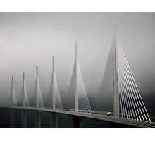 The Millau Viaduct in France Photographic Print