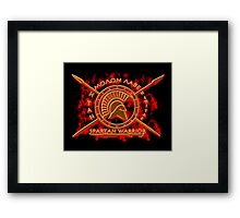 Spartan warrior - Molon lave and come back with your shield or on it! Framed Print