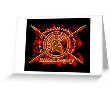 Spartan warrior - Molon lave and come back with your shield or on it! Greeting Card