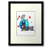 Rose Tyler Meets Captain Jack Harkness Framed Print