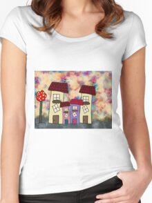 Lovely houses Women's Fitted Scoop T-Shirt