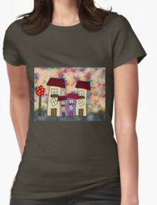 Lovely houses Womens Fitted T-Shirt