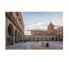 Mercado Chico Square in Avila Art Print
