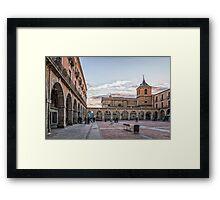 Mercado Chico Square in Avila Framed Print
