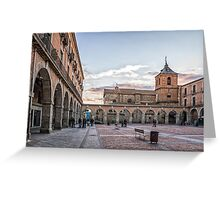 Mercado Chico Square in Avila Greeting Card