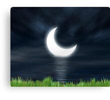 Moon on the water 2 Canvas Print