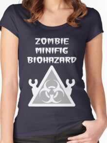 ZOMBIE MINIFIG BIOHAZARD Women's Fitted Scoop T-Shirt