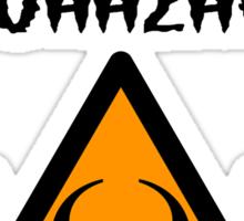 ZOMBIE MINIFIG BIOHAZARD Sticker