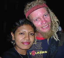 BUGGA AND FRIEND AT TEDDIES. Kupang ,West Timor  2005 by lloyd jacobs