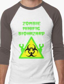 ZOMBIE MINIFIG BIOHAZARD Men's Baseball ¾ T-Shirt
