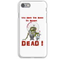 Zombie Cop iPhone Case/Skin