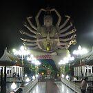 Guayin Statue - Koh Samui's Plai Laem Wat - night shot by DAdeSimone