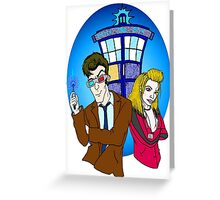 Ten and Rose Greeting Card