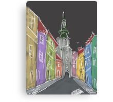 Dark street Canvas Print
