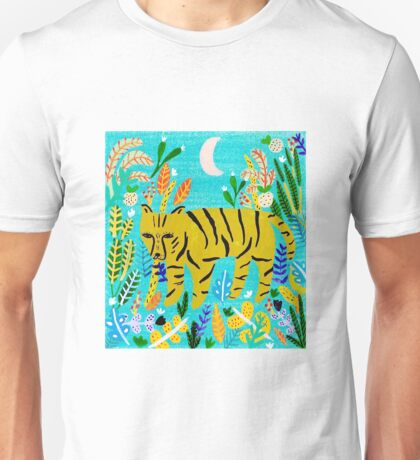 Tiger In The Jungle Unisex T-Shirt