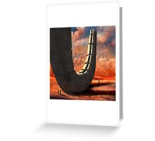 desert ruin Greeting Card