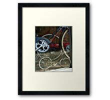 mini me-cycle Framed Print