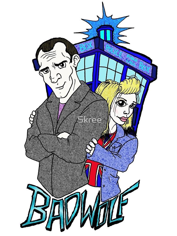 Ninth Doctor & Rose by Skree